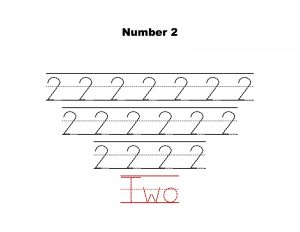 number 2 tracing worksheets practice