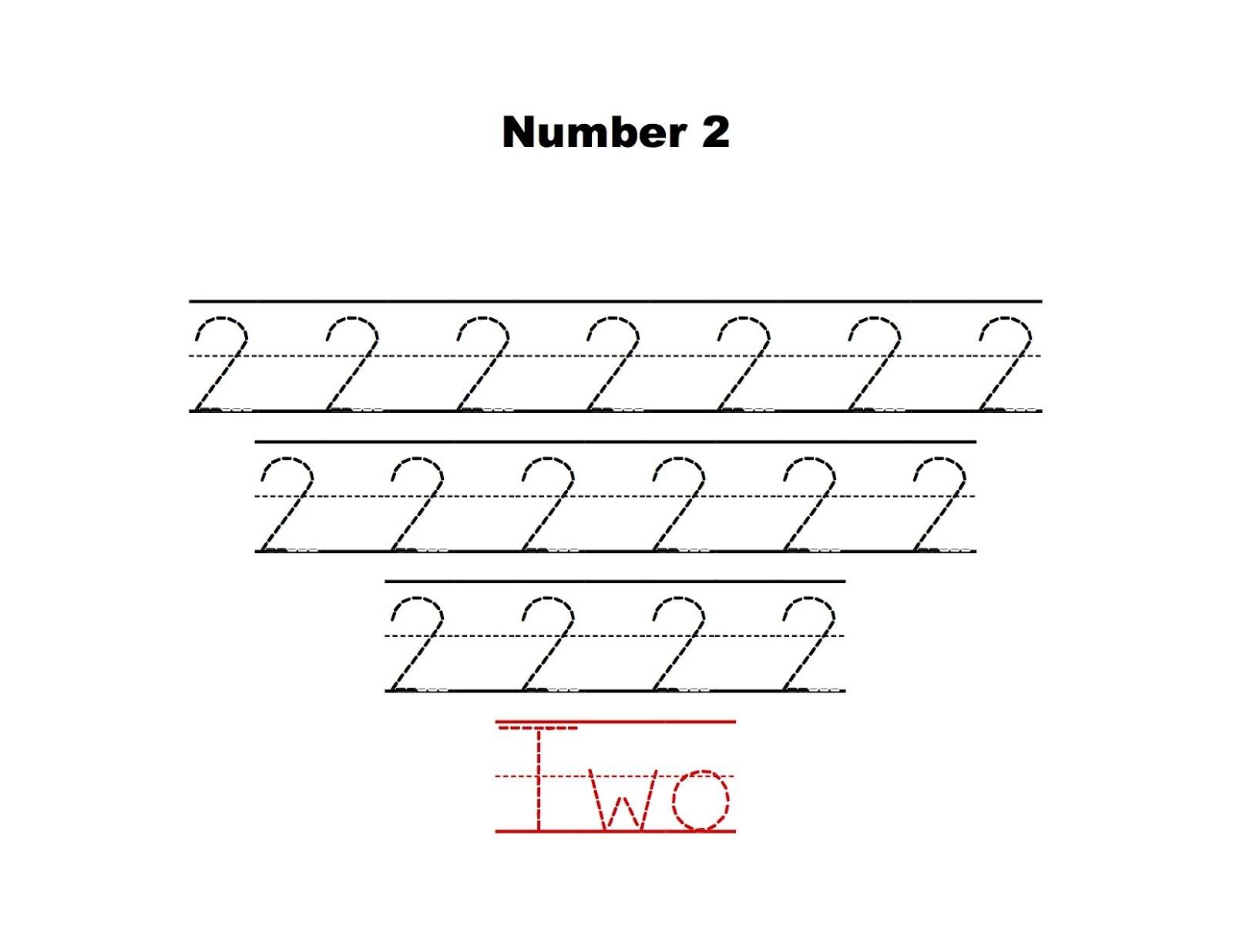Tracing The Number 2 - Kidz Activities