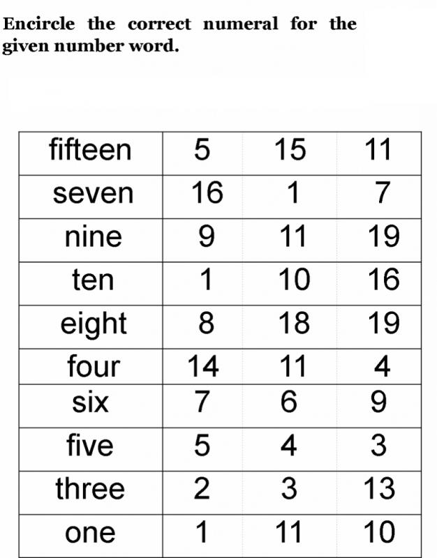 number words activities fun