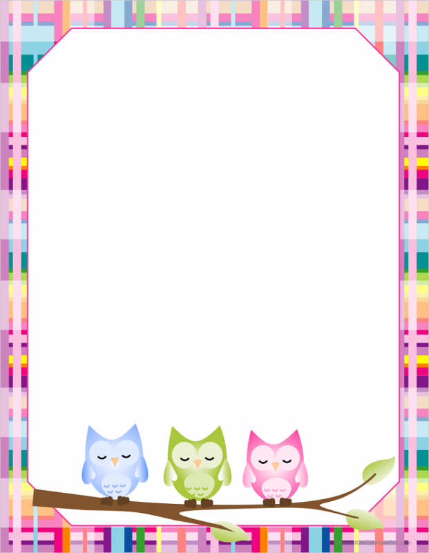 paper template kids border