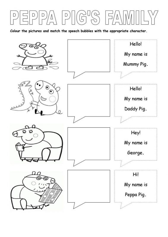 Activities For Kids With Paper To Print Pepa Pig