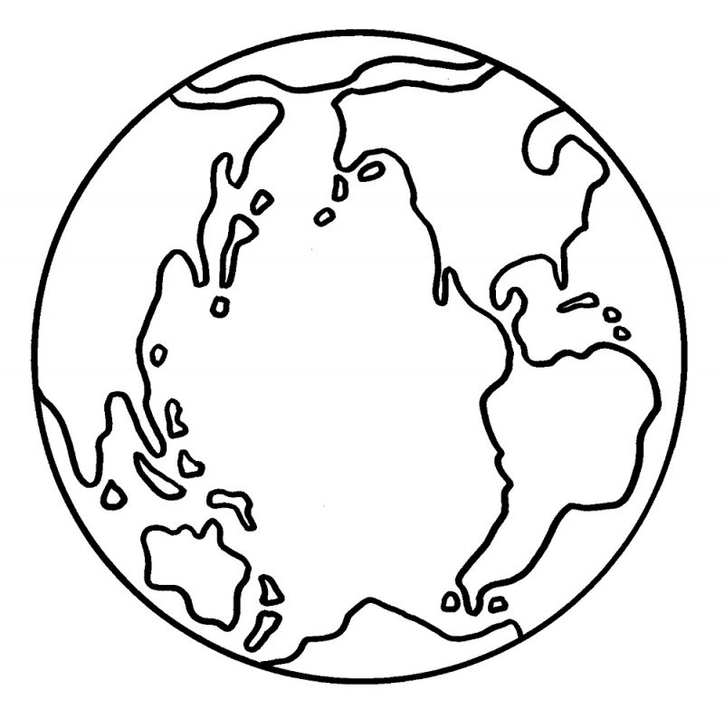 picture of a globe to color activity