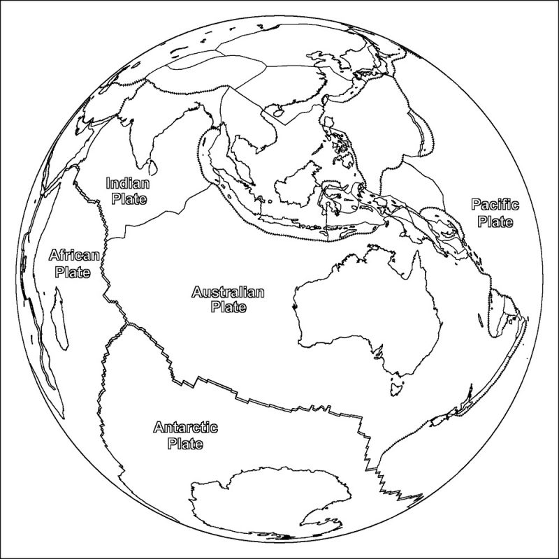 picture of a globe to color earth