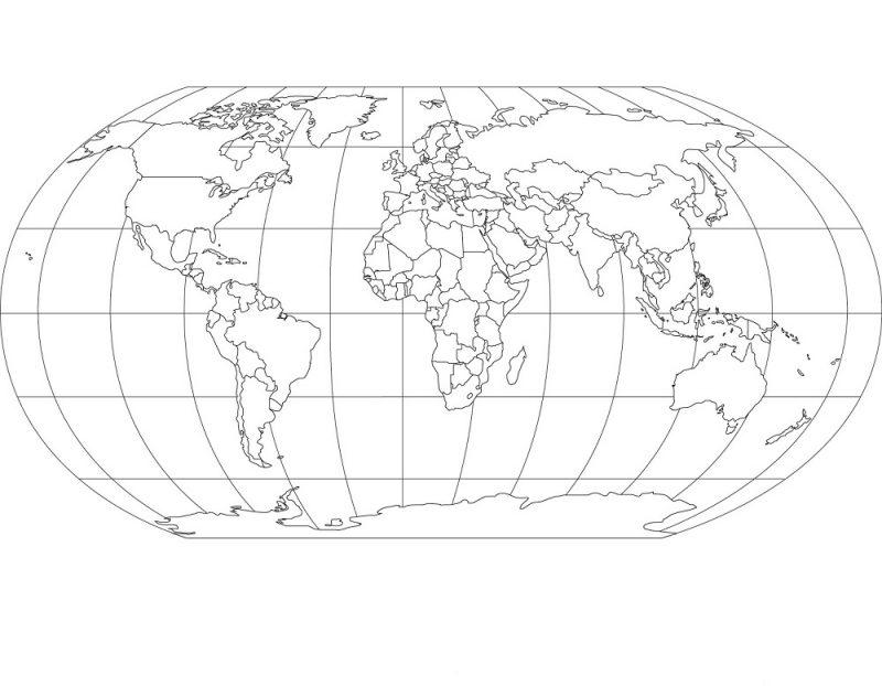 picture of a globe to color map