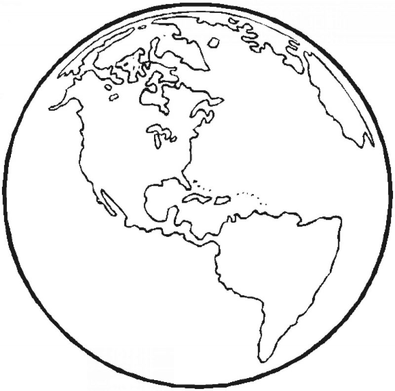 picture of a globe to color printable