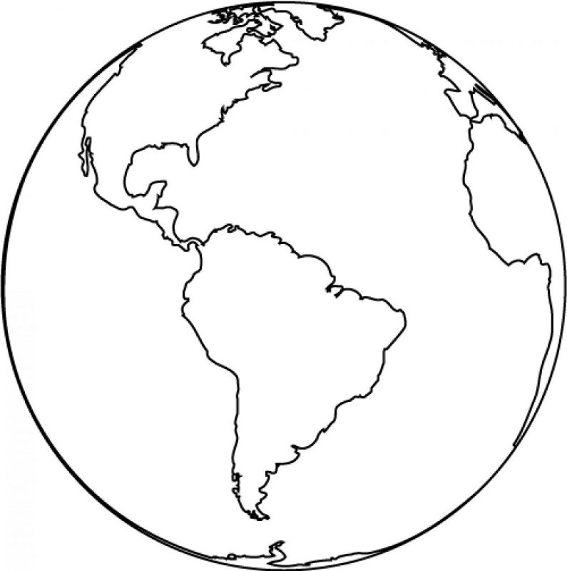 picture of a globe to color world