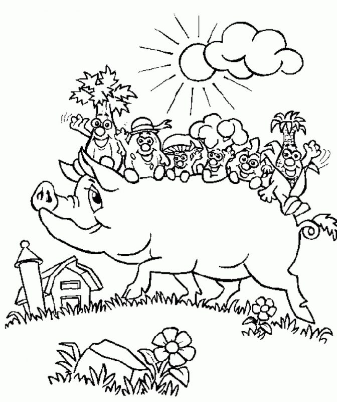 pig worksheets first grade coloring