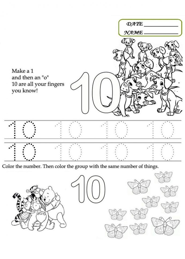 Fun Number Worksheets : Preschool number worksheets learning printable