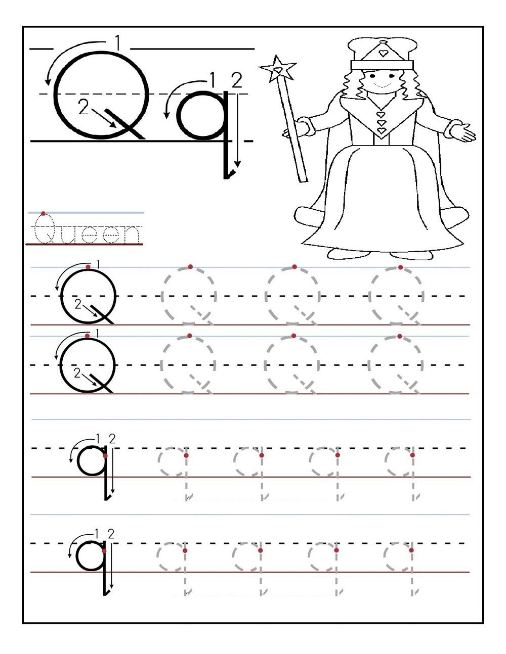 preschool traceables activity