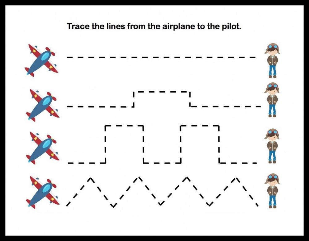 preschool traceables line