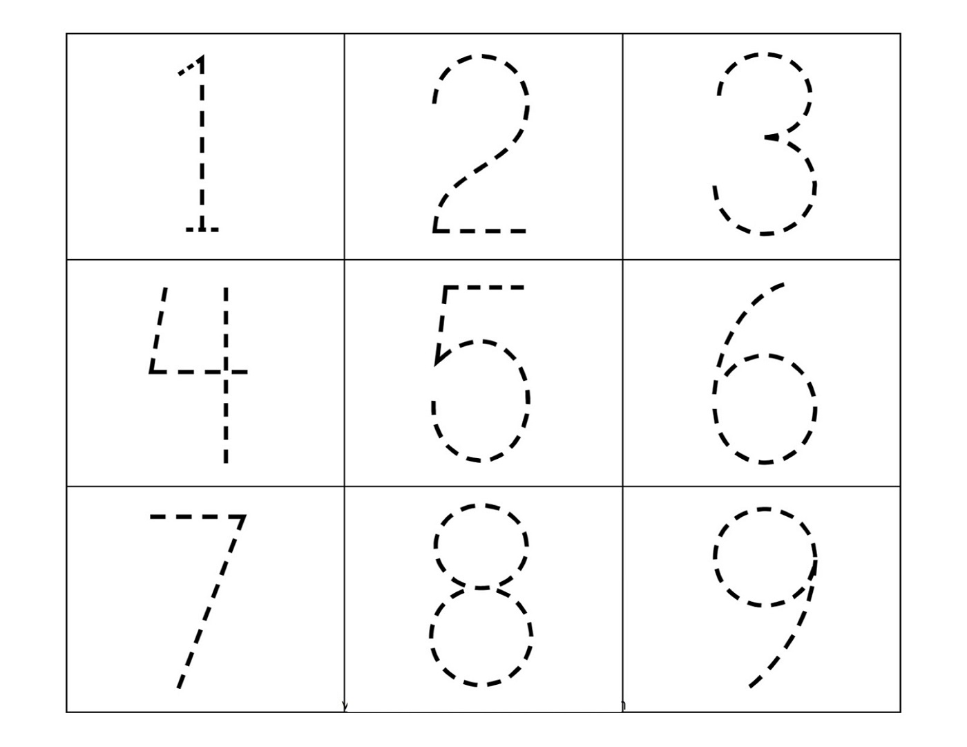Free Printable Tracing Worksheets For Kindergarten
