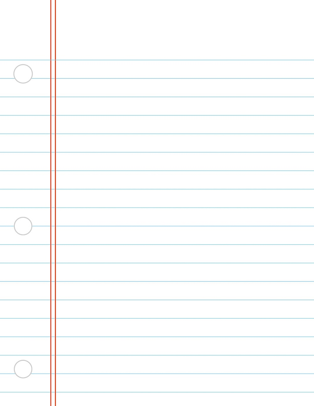 printable notebook paper free page