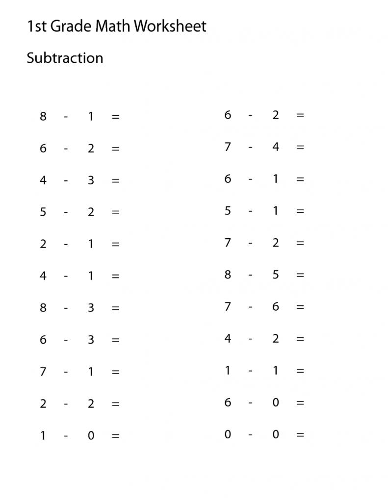 printable worksheets grade 1 math
