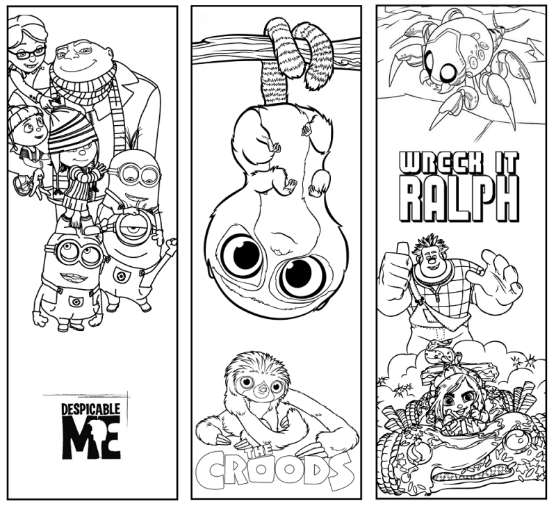 reading bookmarks to colour in fun