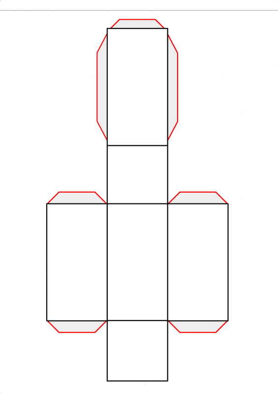 rectangular prism net image