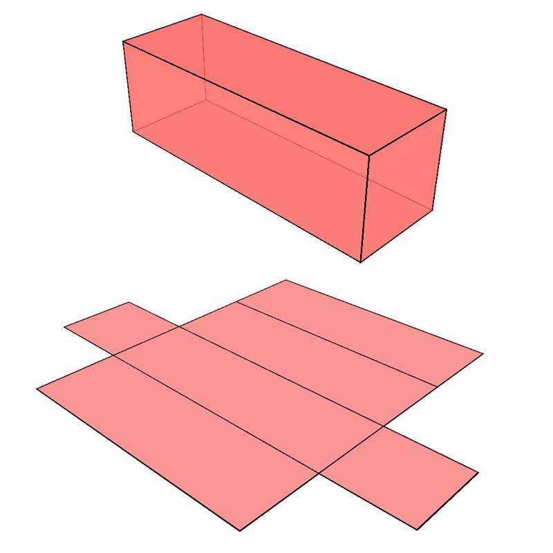 rectangular prism net math