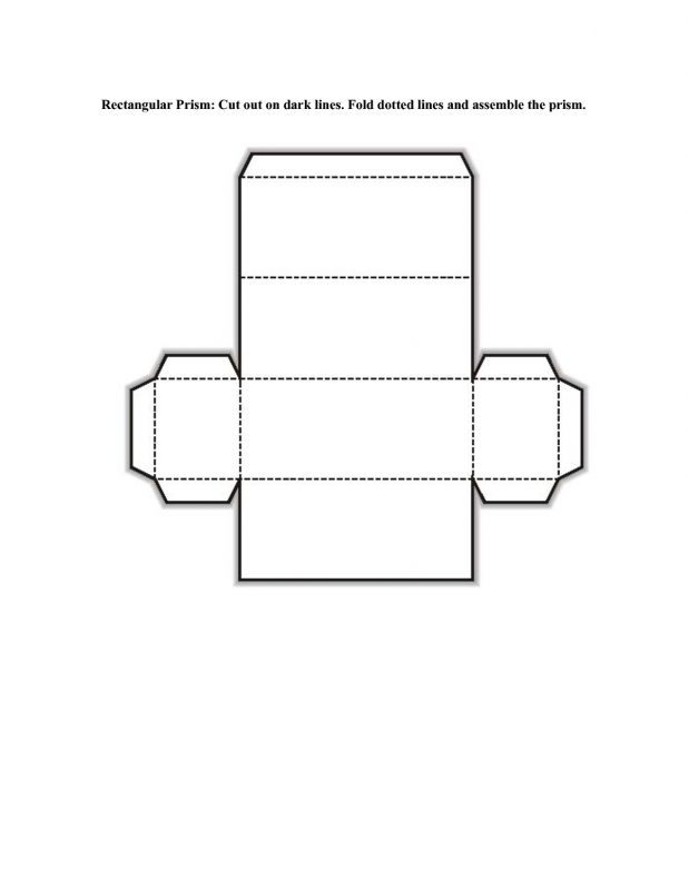 Rectangular Prism Net Printable | Learning Printable