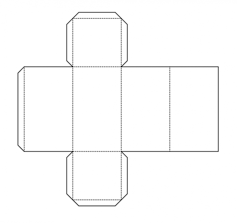 Rectangular prism net printable learning printable for Geometry net templates