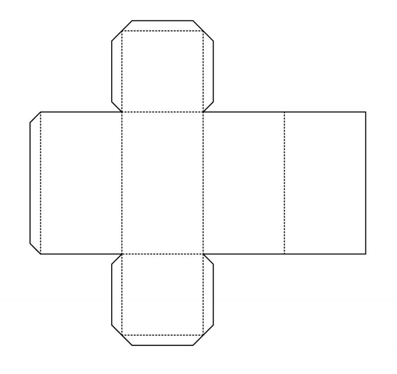 rectangular prism net template