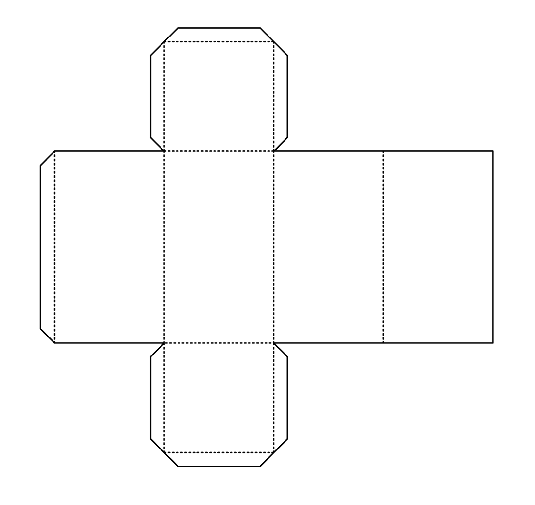 rectangular prism net template