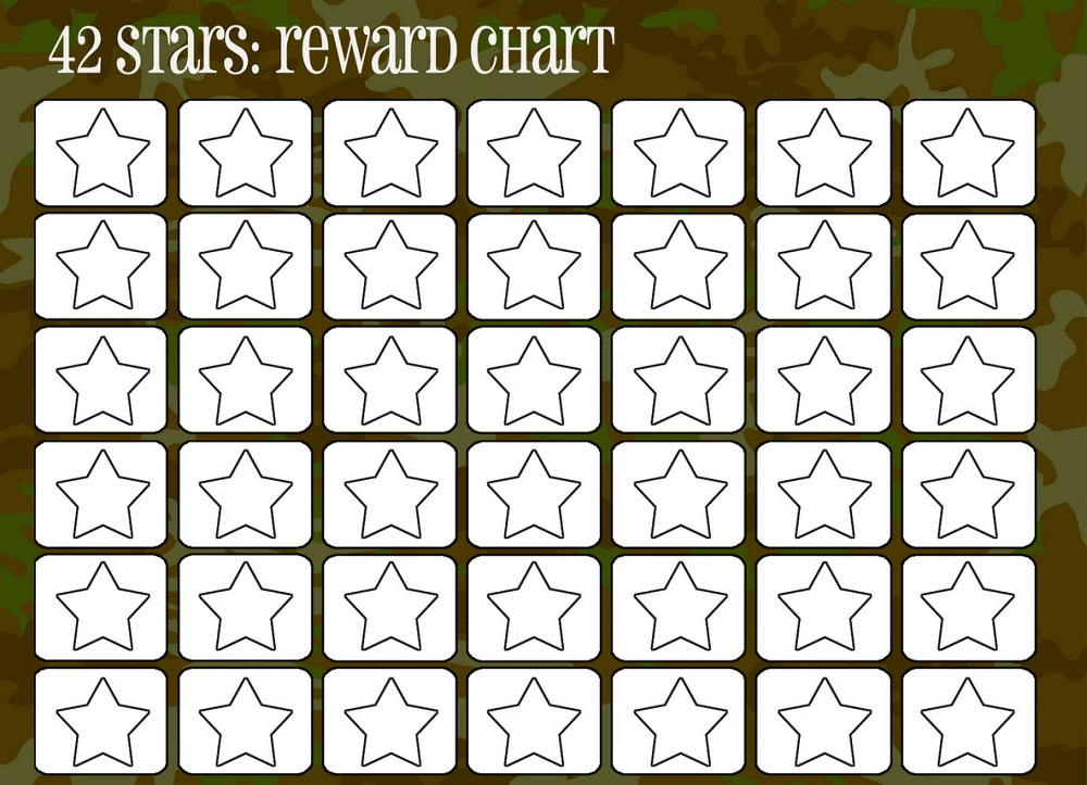 rewarding chart for kids stars