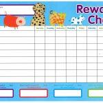 rewarding chart for kids template