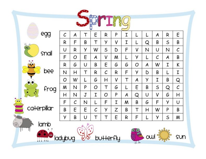 Word Search Printables for Kids | Learning Printable