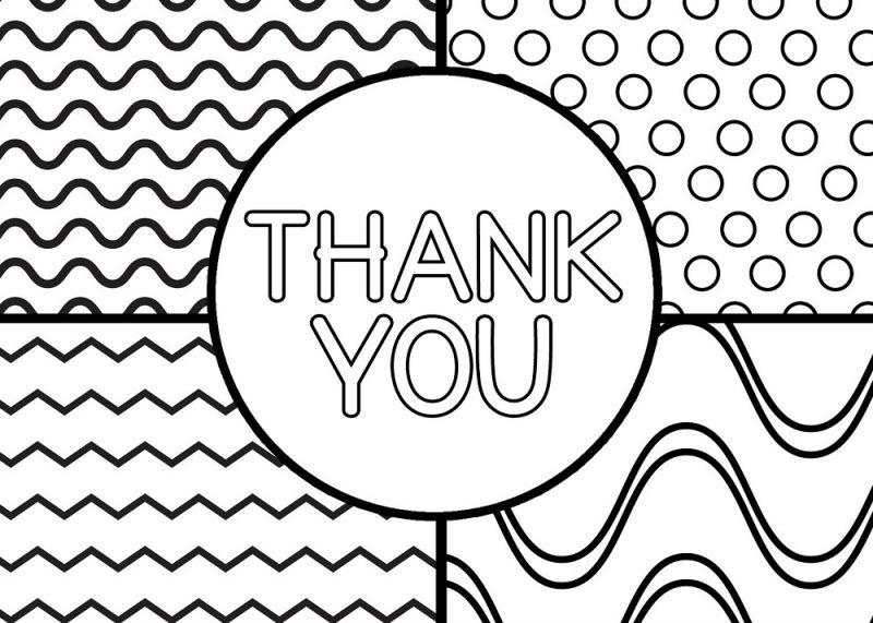 thank you colouring sheet for kids card