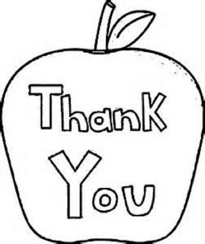 thank you colouring sheet for kids simple