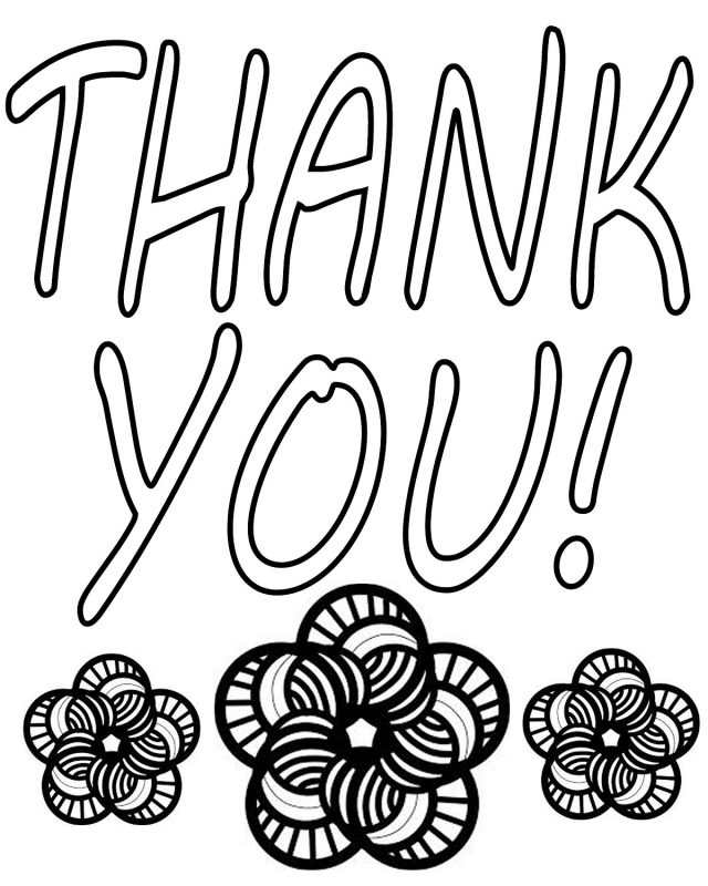 thank you colouring sheet for kids template