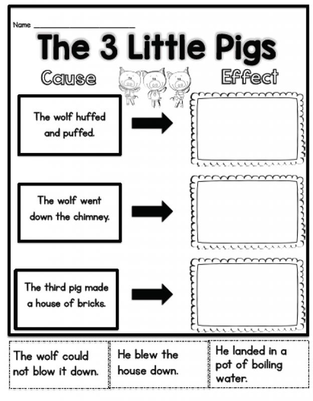 the 3 little pig worksheets first grade