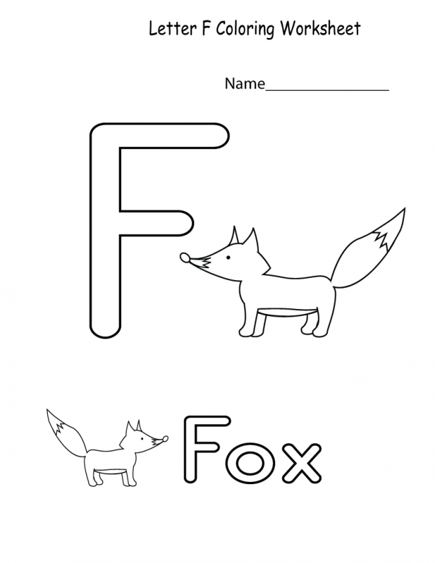 the letter f worksheets for kids