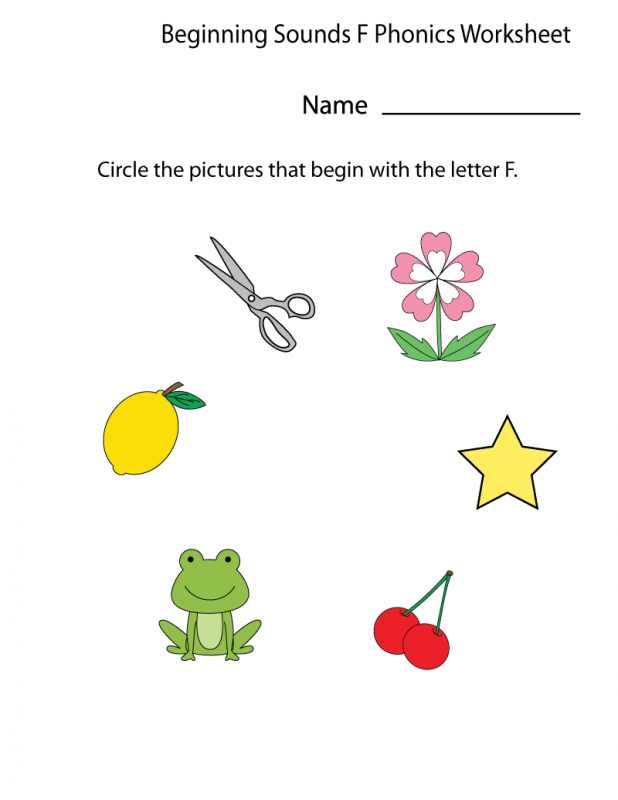 the letter f worksheets phonic