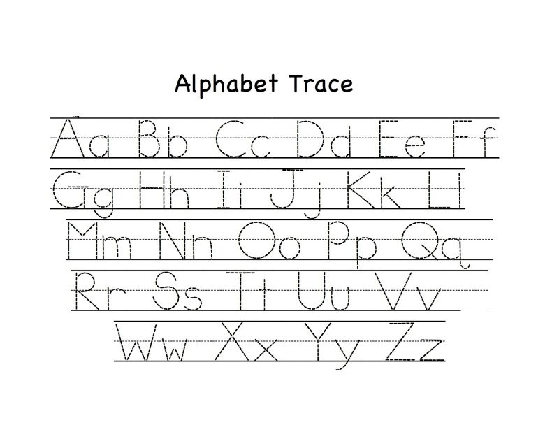 trace lowercase and uppercase alphabet printable
