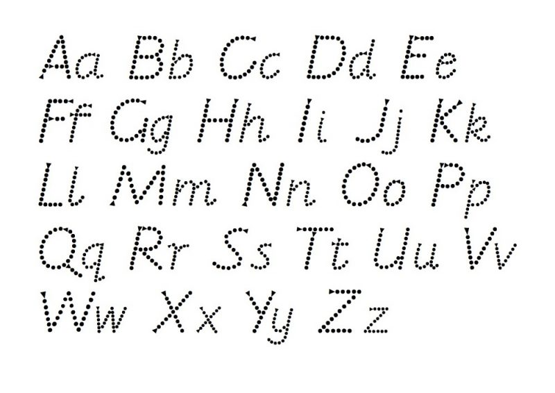 Trace Lowercase And Uppercase Alphabet