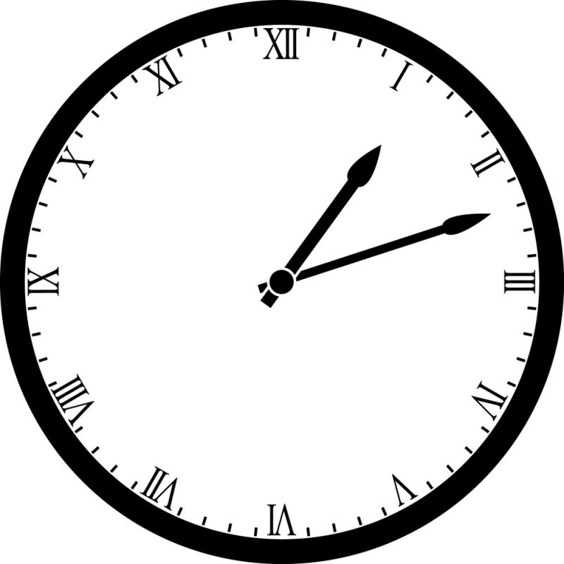 1-12 roman numerals downloads clock free