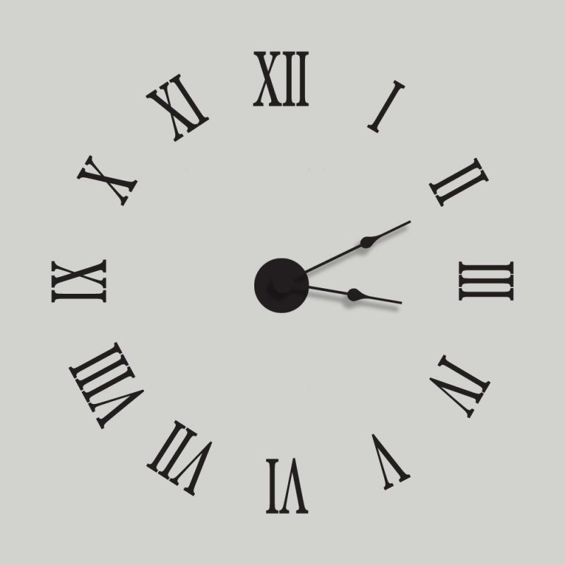 1-12 roman numerals downloads clock printable
