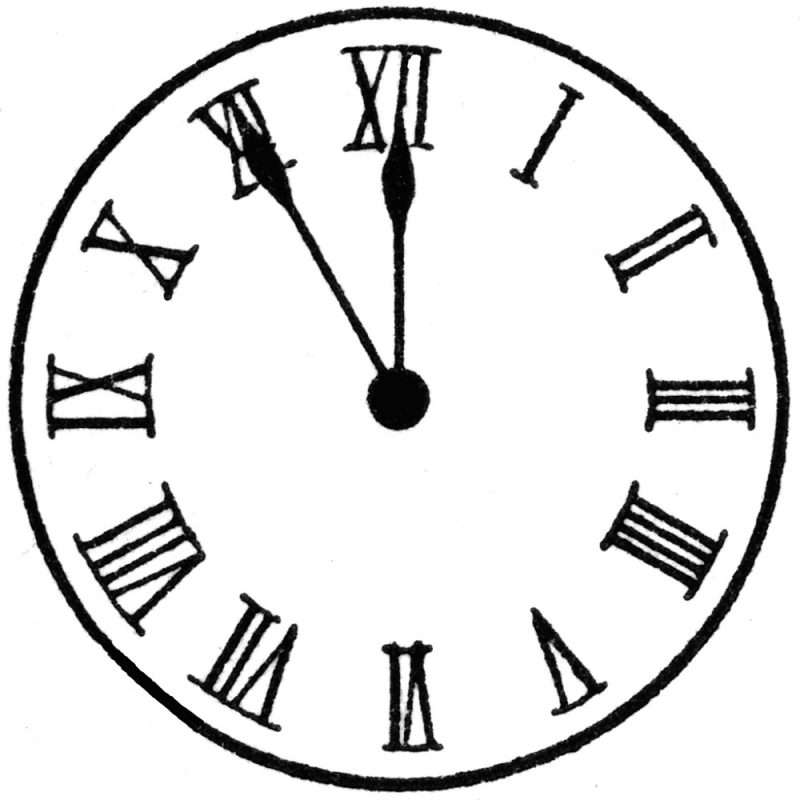 1-12 roman numerals downloads clock sample