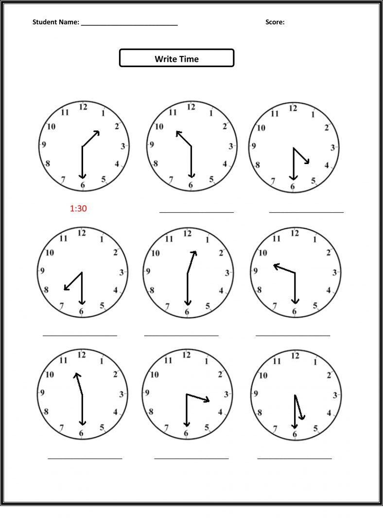 telling time worksheets grade 2 pdf