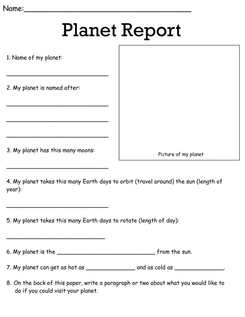 Free 3rd grade science worksheets