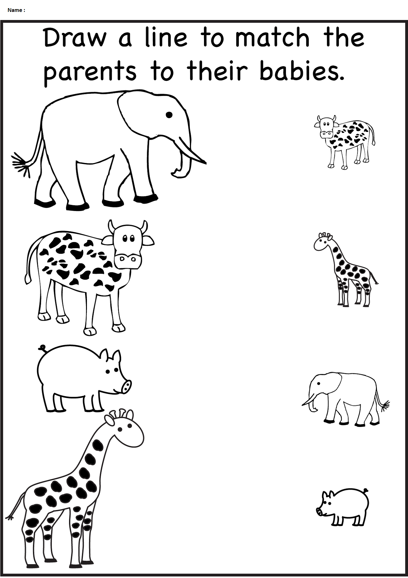 Worksheet for Nursery Class | Learning Printable