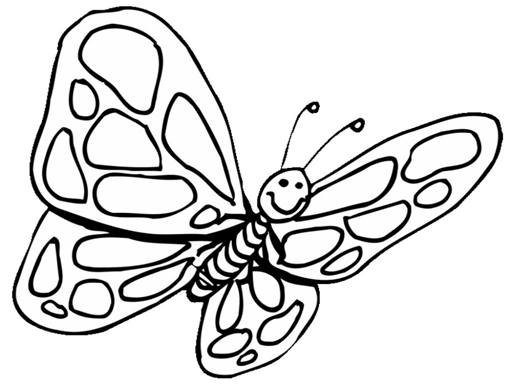 Free butterfly coloring pages to print learning printable for Butterfly coloring pages for kindergarten