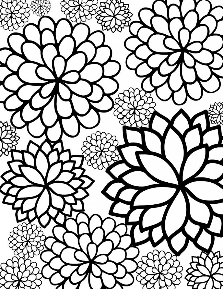 Coloring Pages for Kids to Print Flowers