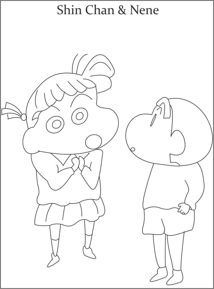 Coloring Pages for Kids to Print Shincan