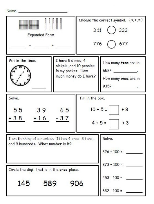 2nd Grade Math Worksheets to Print | Learning Printable