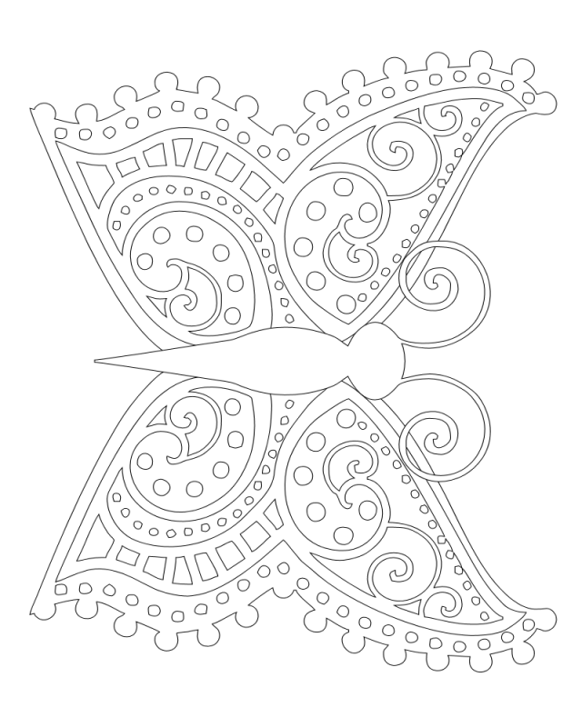 Cool Butterfly Coloring Pages