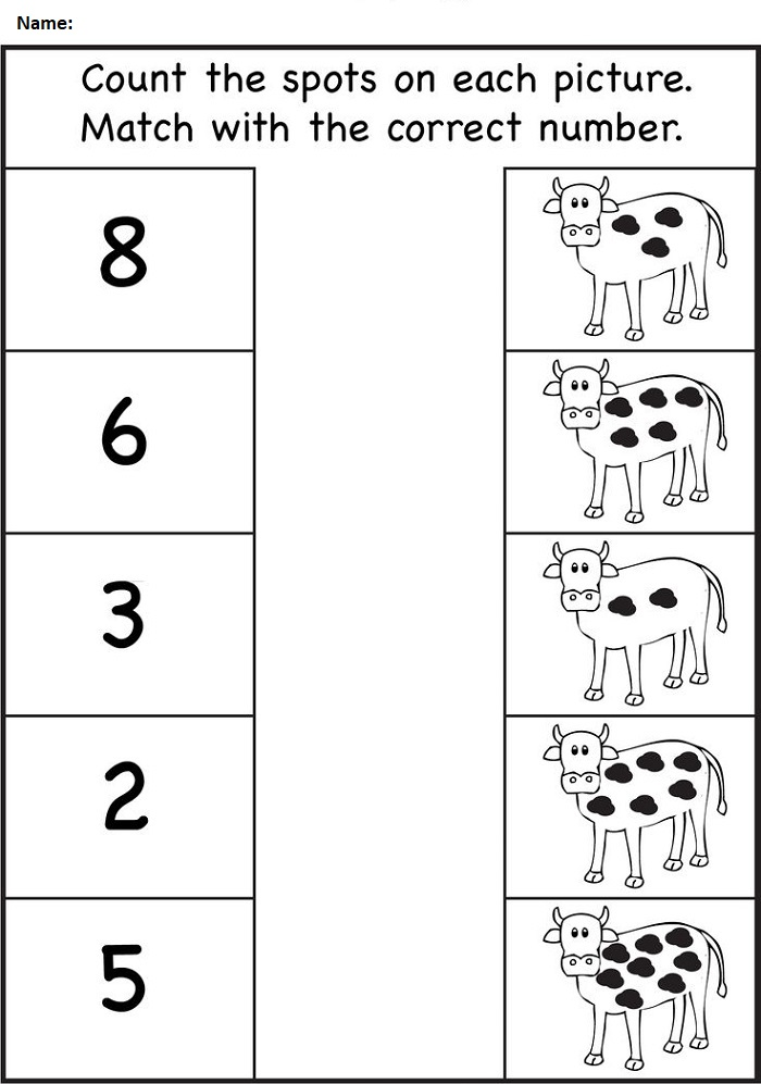 Count Worksheet for Nursery Class