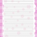 Lined Notebook Paper Template pink free