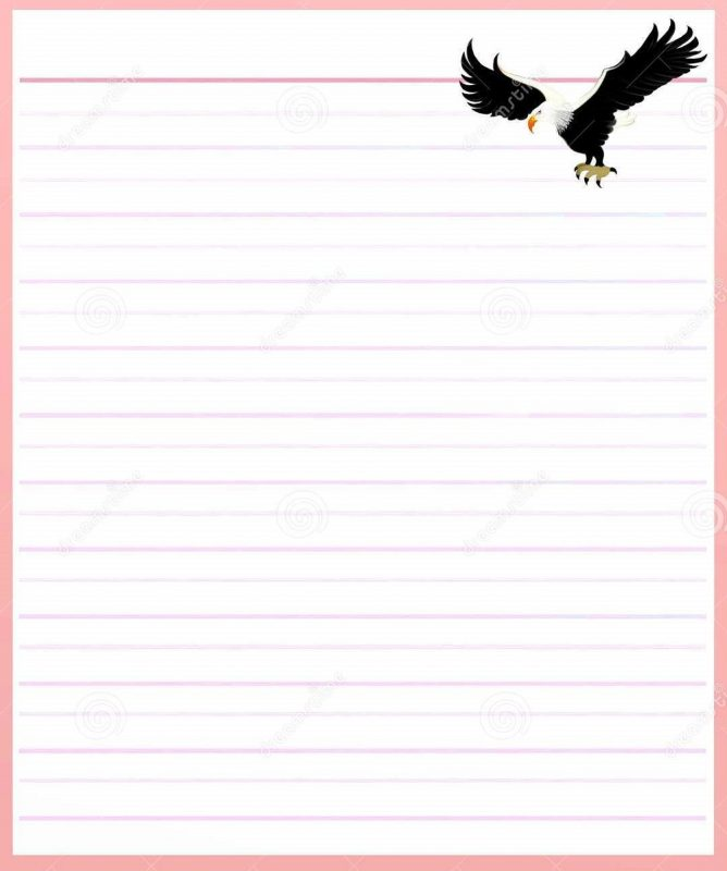 Lined Notebook Paper Template pink printable – Learning Printable