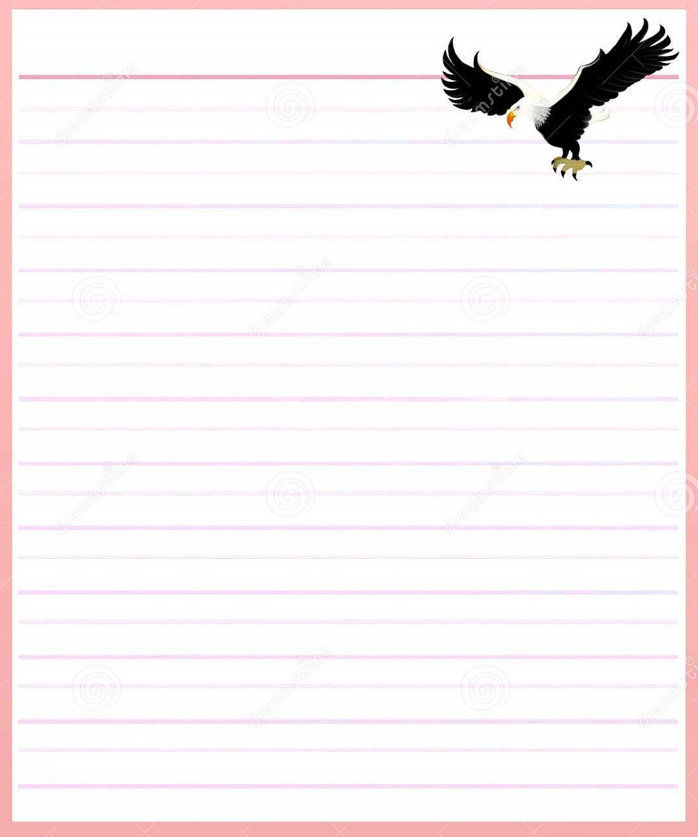 Lined Notebook Paper Template pink printable